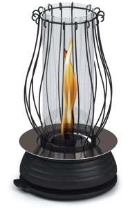 Beautiful lamp creates unique flame